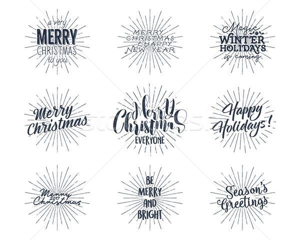 Set Weihnachten Neujahr Wünsche Sprüche Jahrgang