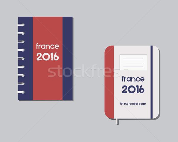 Corporate identiteit sjabloon ontwerp branding Frankrijk Stockfoto © JeksonGraphics