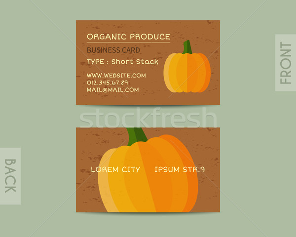 Summer Organic Farm Fresh branding identity elements. Business card template. Stylish design. Mock u Stock photo © JeksonGraphics