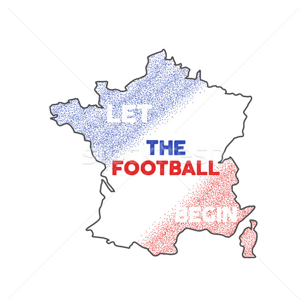 France euro championship 2016 abstract design. Football background. Isolated France map wih stipple  Stock photo © JeksonGraphics