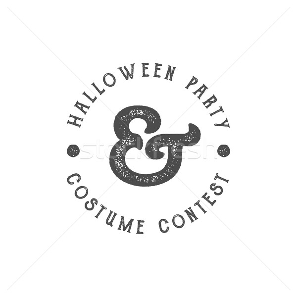Happy Halloween 2016 vintage Party Label. Typography insignia for celebration holiday. Retro badge,  Stock photo © JeksonGraphics