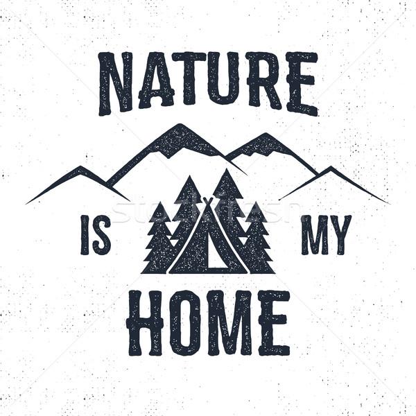Foto stock: Montanha · etiqueta · natureza · meu · casa