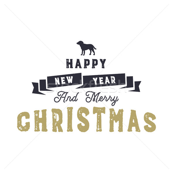 Natal tipografia citar projeto feliz ano novo alegre Foto stock © JeksonGraphics