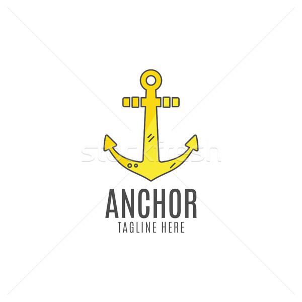 Kotwica logo ikona morza marynarz symbol Zdjęcia stock © JeksonGraphics