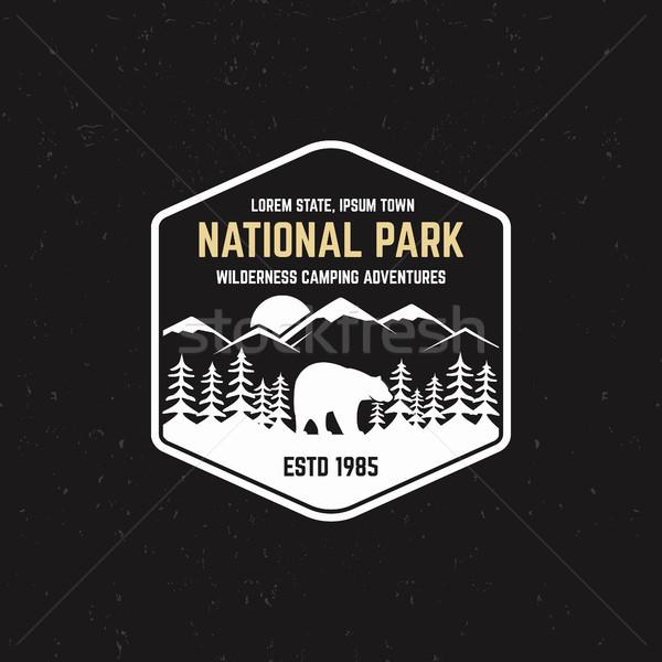 スタンプ 公園 屋外 キャンプ 観光 ヒップスター ストックフォト © JeksonGraphics