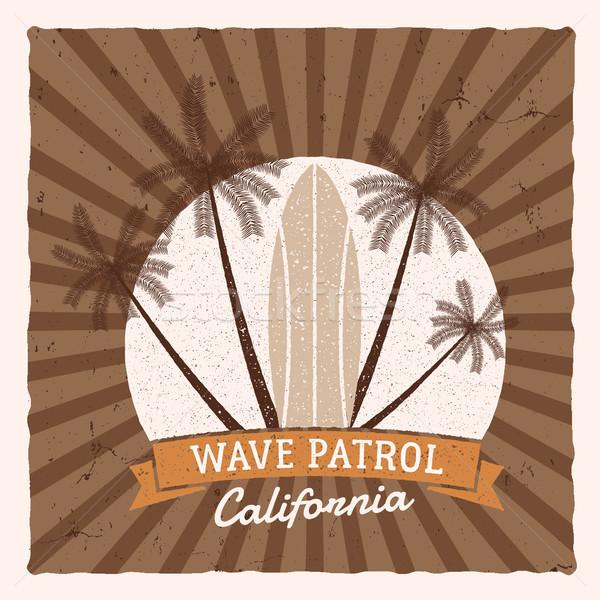 Foto stock: Vintage · surf · gráficos · anunciante · diseno · web · impresión