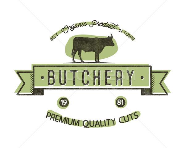 Butchery Shop vintage emblem. Butchery store Logo template retro style. Vintage design for logotype, Stock photo © JeksonGraphics