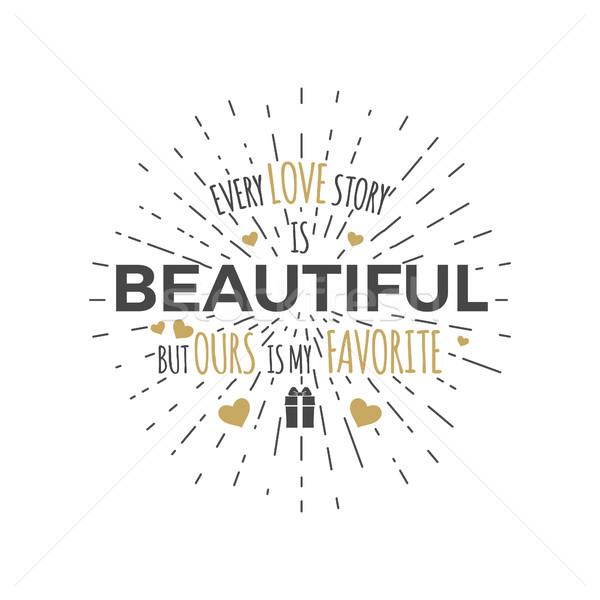 Gelukkig valentijnsdag typografie foto tekst Stockfoto © JeksonGraphics