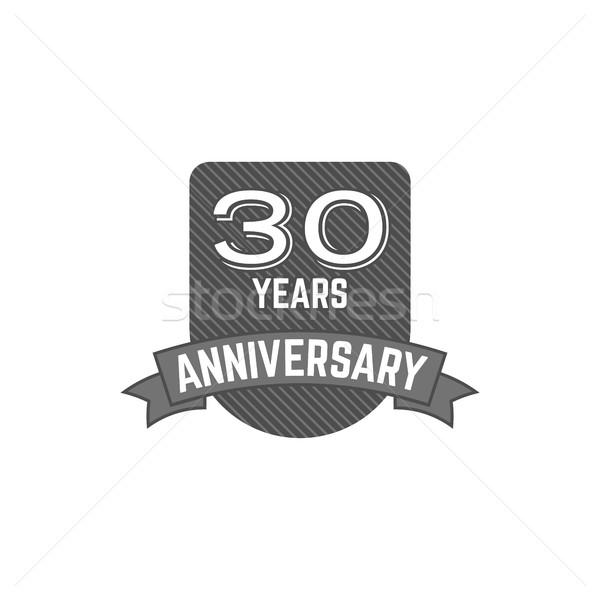 30 lat rocznicy odznakę podpisania godło wstążka Zdjęcia stock © JeksonGraphics