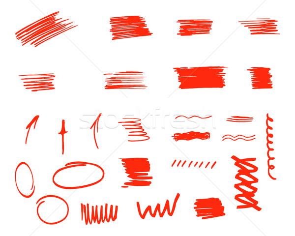 Farklı dizayn elemanları yalıtılmış beyaz Stok fotoğraf © JeksonGraphics