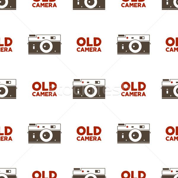 Vieux caméra vintage photographie Photo stock © JeksonGraphics