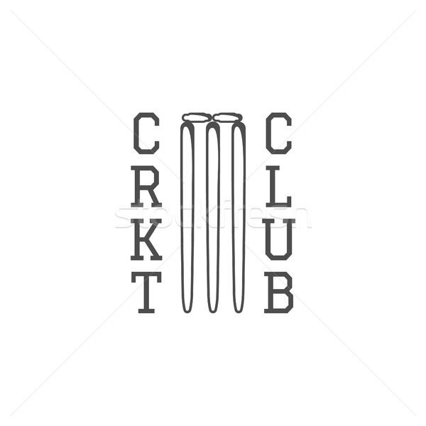 Críquete clube emblema projeto logotipo distintivo Foto stock © JeksonGraphics