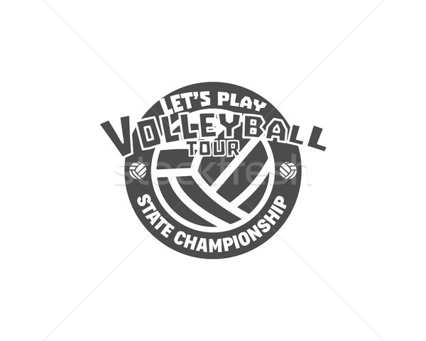 バレーボール ラベル バッジ ロゴ アイコン スポーツ ストックフォト © JeksonGraphics