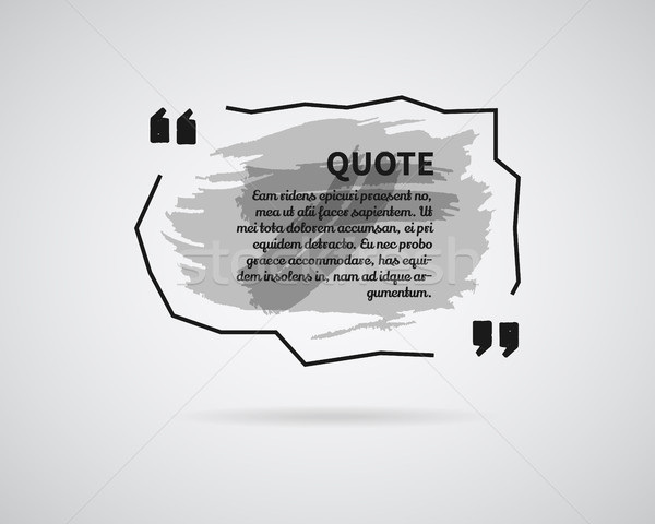 Quote blank templates. Watercolor, ink, splash Quote bubble. Empty template. Abstract business card  Stock photo © JeksonGraphics