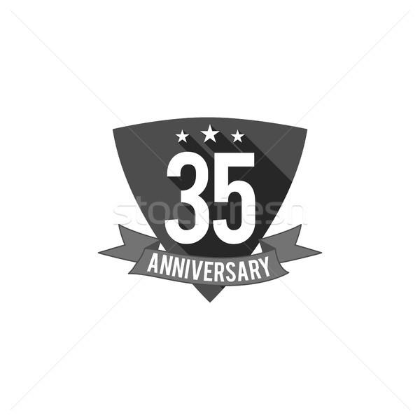 Rok rocznicy odznakę podpisania godło projektu Zdjęcia stock © JeksonGraphics