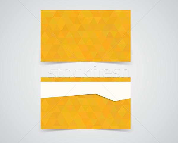 Moderne visitekaartje sjabloon fotografie studio eco Stockfoto © JeksonGraphics
