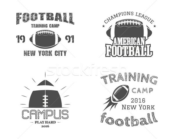 набор американский футбола команда кампус жетоны Сток-фото © JeksonGraphics