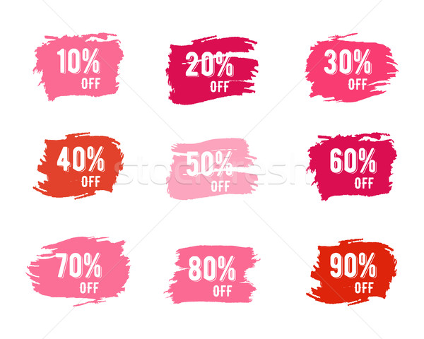 Stock photo: Christmas sale percents, new year, black friday, cyber monday or winter autumn discount price tags.