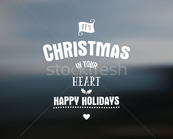 Merry Christmas lettering. Wishes clipart for Holiday season cards, posters, banners, flyers and pho Stock photo © JeksonGraphics