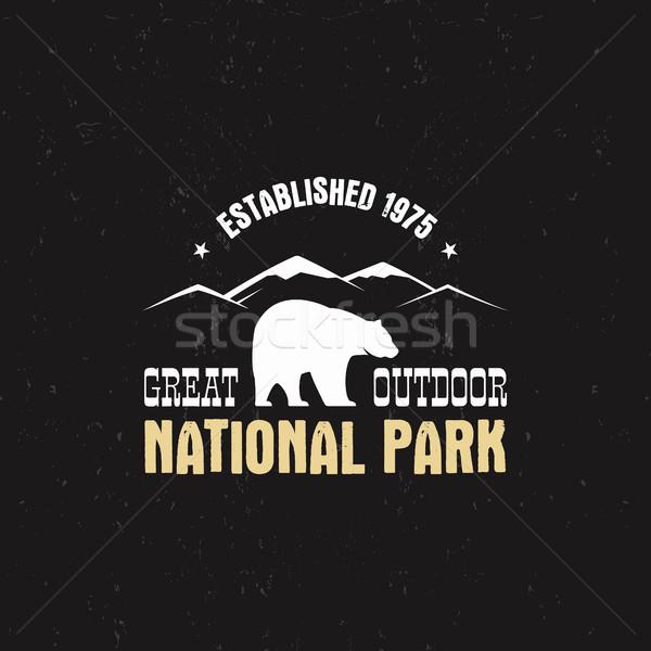 スタンプ 公園 キャンプ 観光 ヒップスター スタイル ストックフォト © JeksonGraphics