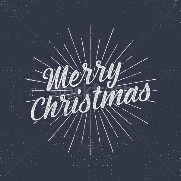 クリスマス ヴィンテージ ラベル 季節 ストックフォト © JeksonGraphics