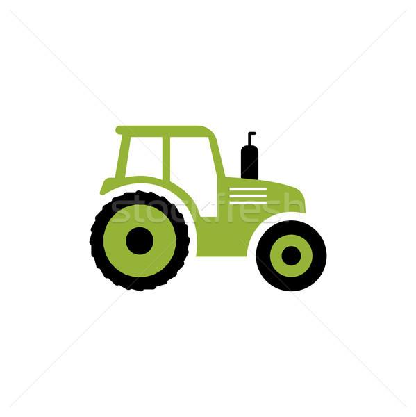 Trekker icon vector boerderij symbool geïsoleerd Stockfoto © JeksonGraphics