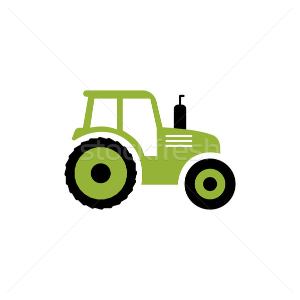 Trator ícone vetor fazenda símbolo isolado Foto stock © JeksonGraphics