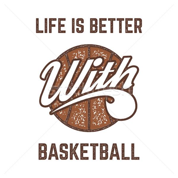 Klasszikus kosárlabda sportok terv retro gumi Stock fotó © JeksonGraphics