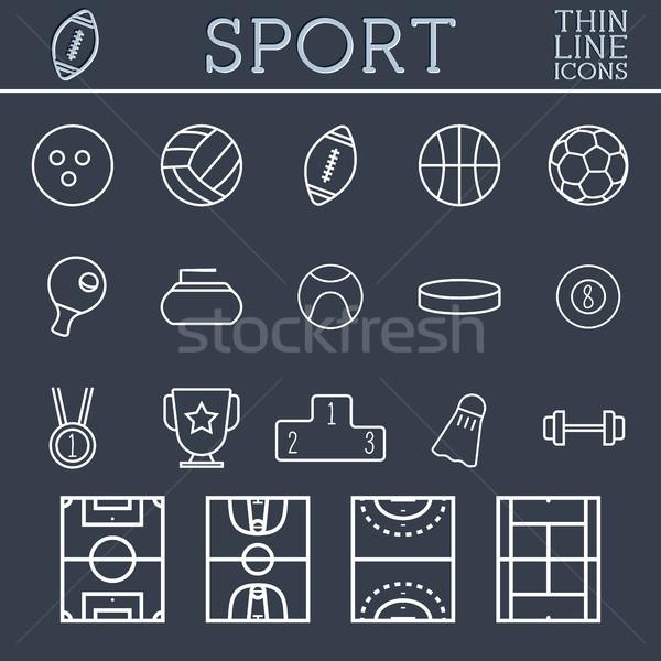 スポーツ アイコン トレンディー 薄い 行 ストックフォト © JeksonGraphics