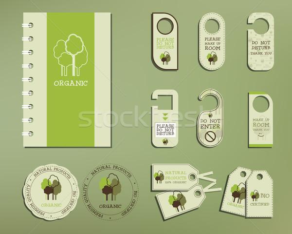 Photo stock: Vert · organique · entreprise · identité · modèle