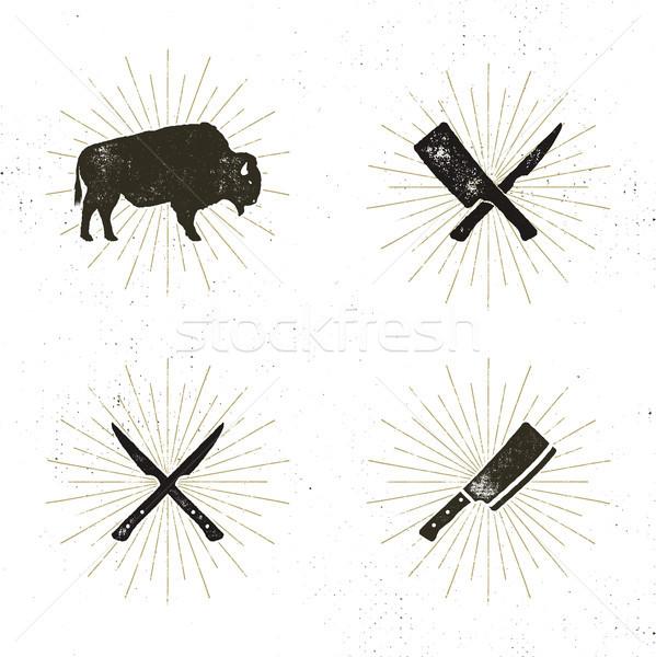 セット ステーキ 家 肉屋 肉 ツール ストックフォト © JeksonGraphics