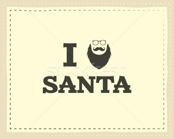 Natale unico divertente segno citare design Foto d'archivio © JeksonGraphics