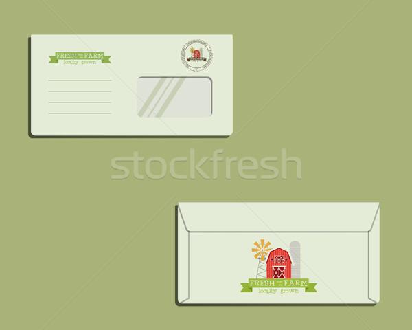 Marka tożsamości szablon kopercie front powrót Zdjęcia stock © JeksonGraphics
