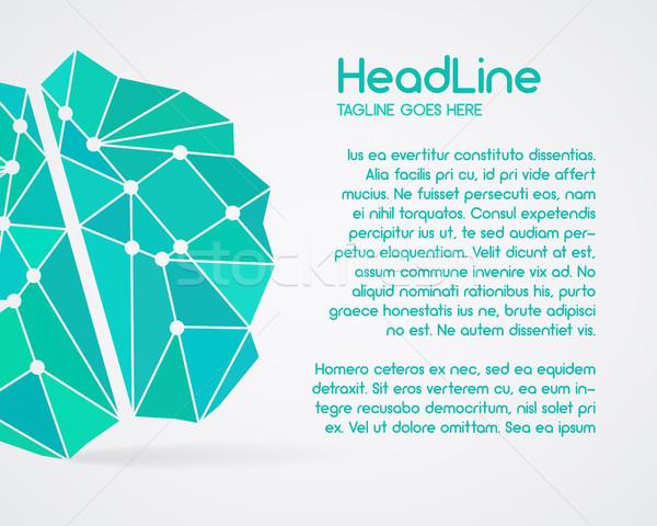 мозг создание Идея плакат шаблон Сток-фото © JeksonGraphics