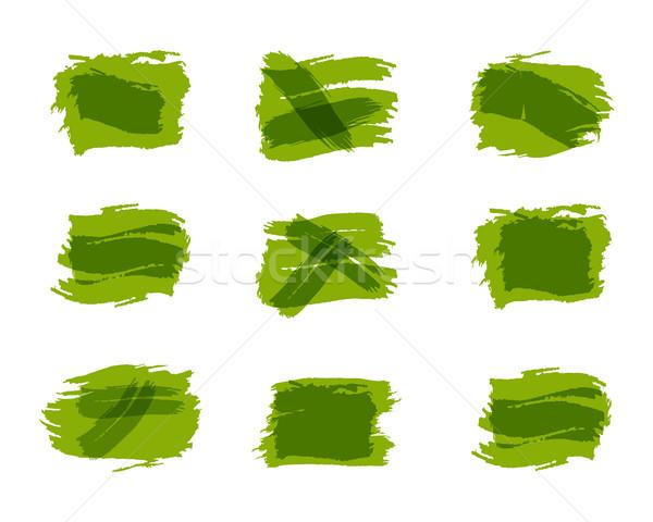 Suluboya mürekkep sıçrama aktarmak şablonları kabarcıklar Stok fotoğraf © JeksonGraphics