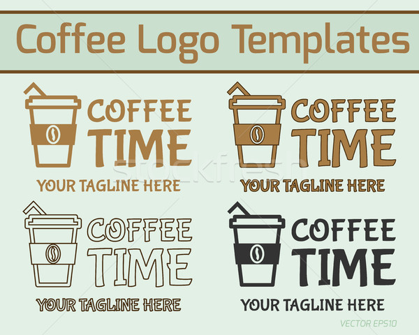 Foto d'archivio: Caffè · logo · design · moderno · stile · line