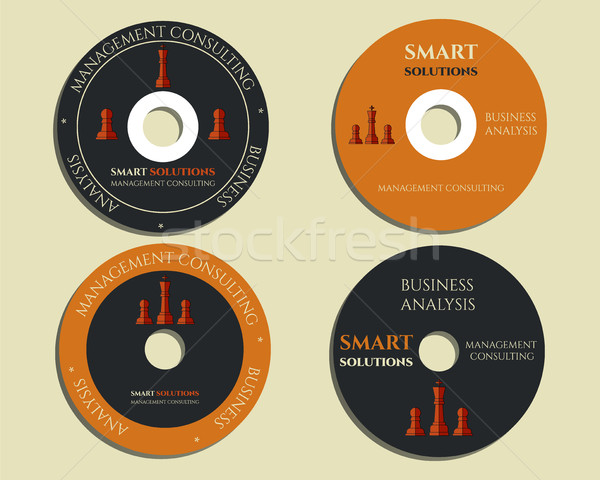Business cd sjablonen teken icon compact disc Stockfoto © JeksonGraphics