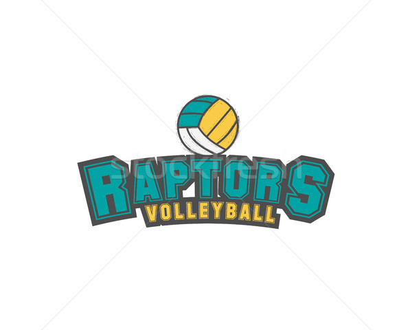 Volleyball club emblem, college league logo,  raptors design template element, tournament badge and  Stock photo © JeksonGraphics