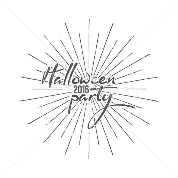 Halloween partij typografie label vakantie foto Stockfoto © JeksonGraphics