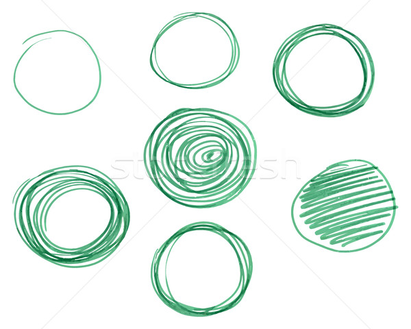 Set of Hand drawn circles, vector logo design elements. Marker, felt pen, liner style Stock photo © JeksonGraphics