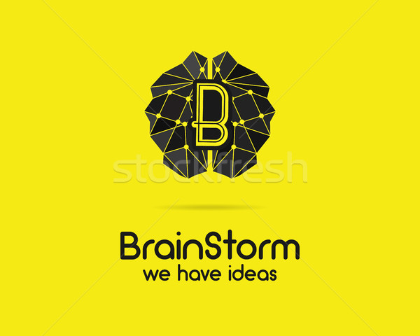 Brainstorm, brain, creation and idea logo template and elements. Solve problems, idea creation busin Stock photo © JeksonGraphics