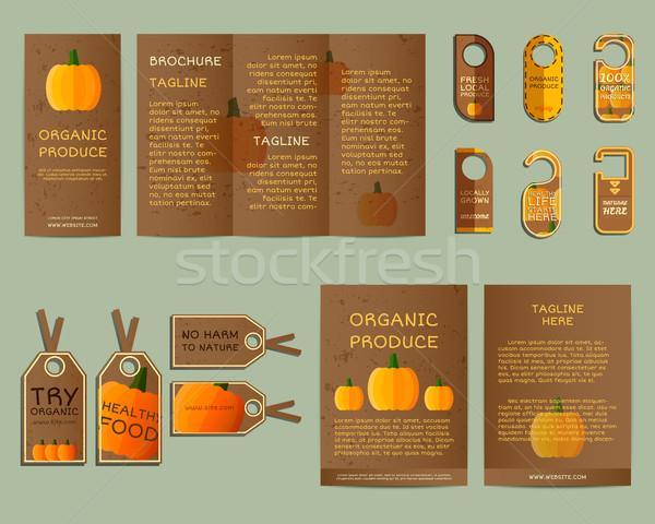 自然 ビジネス 企業 アイデンティティ デザイン カボチャ ストックフォト © JeksonGraphics