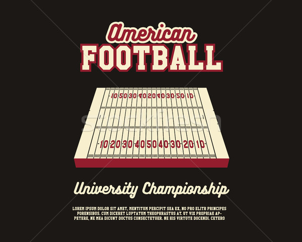 American Football university championship layout template. Usa Sports background. Can be use for bro Stock photo © JeksonGraphics