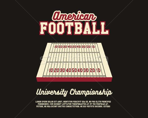 Amerikai futball egyetem bajnokság elrendezés sablon Stock fotó © JeksonGraphics