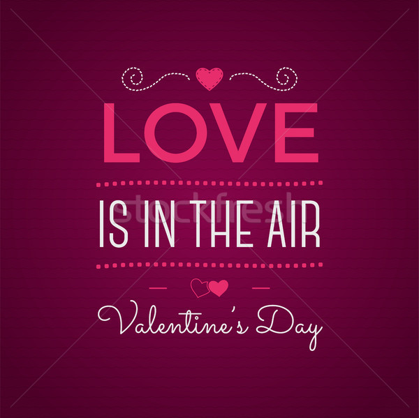 Stock photo: Valentine day typography. Vector photo  overlay, inspirational text.   label. Custom quote on pink b