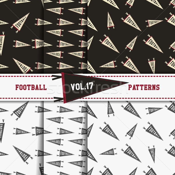 Set of american football patterns. Usa sports seamless background collection. Sport wallpaper with p Stock photo © JeksonGraphics