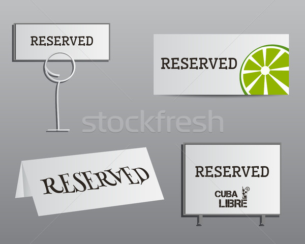 Reservation sign mock up template. Summer cocktail party with Cuba Libre cocktail. Fresh Modern ice  Stock photo © JeksonGraphics