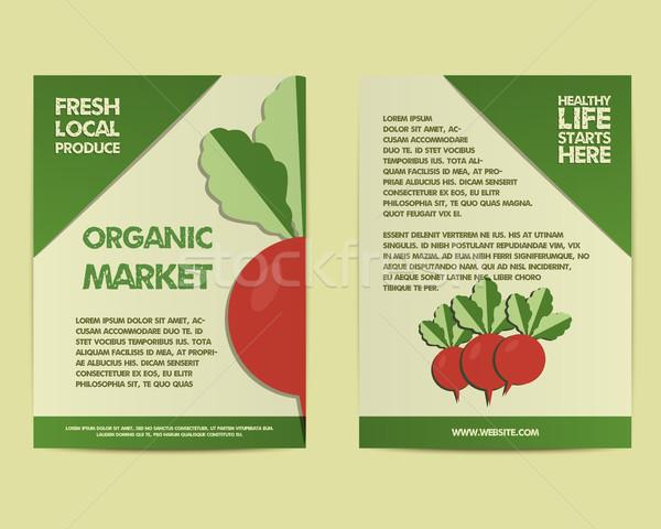 Yaz çiftlik taze poster şablon broşür Stok fotoğraf © JeksonGraphics