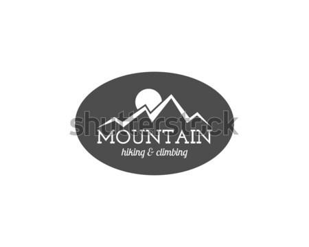 Photo stock: Vintage · montagne · trekking · escalade · randonnée · camping
