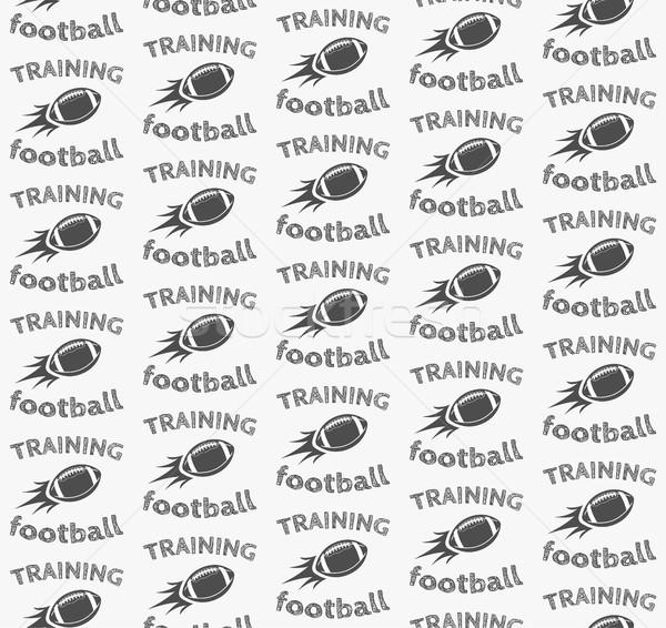 Amerikai futball labda rakéta végtelen minta retro Stock fotó © JeksonGraphics